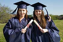 girls boarding school graduation